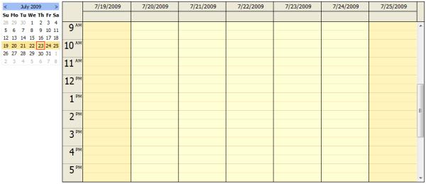 Calendar Planner Vb : Calendar tutorial sql server updatepanel