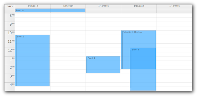 Calendar April Java : Daypilot pro for asp webforms