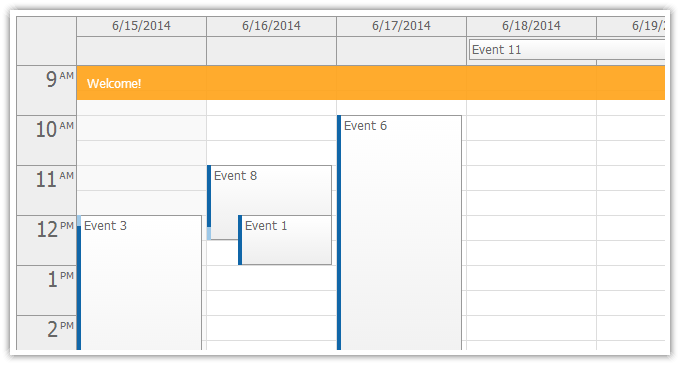 DayPilot ASP.NET Event Calendar displays an Outlook-like day/week view ...